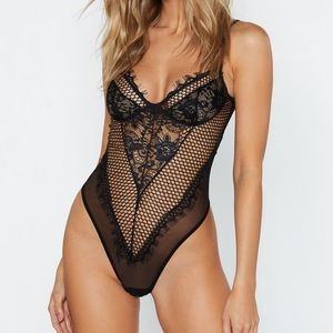 NWT Nastygal Lace Lingerie Bodysuit